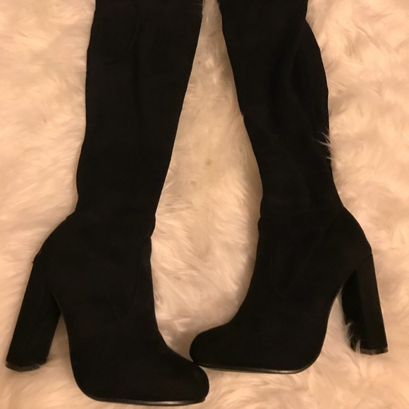 47dca67930a Fashion Nova Shoes - Fashion nova over the knee high heel boots